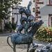 Die Bremer Stadtmusikanten vor dem Waidspeicher in Erfurt/Thüringen