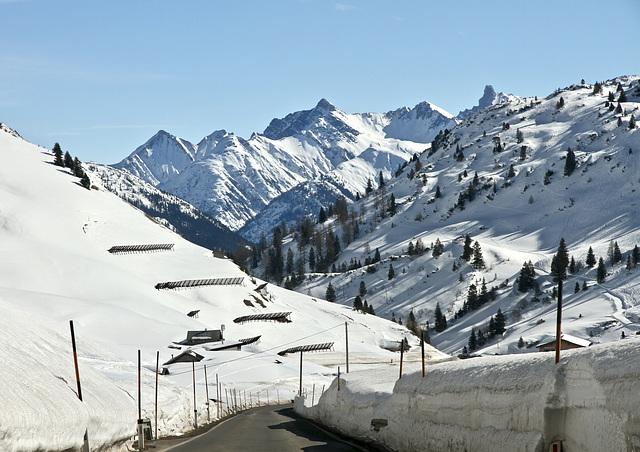 Winter (auf dem Hochtannbergpass)