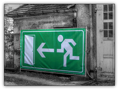 Emergency exit - whereto?