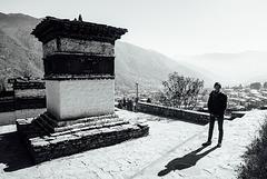 Praying wall above the Bhutan's capital