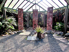 Three Panels of Maori Carving.