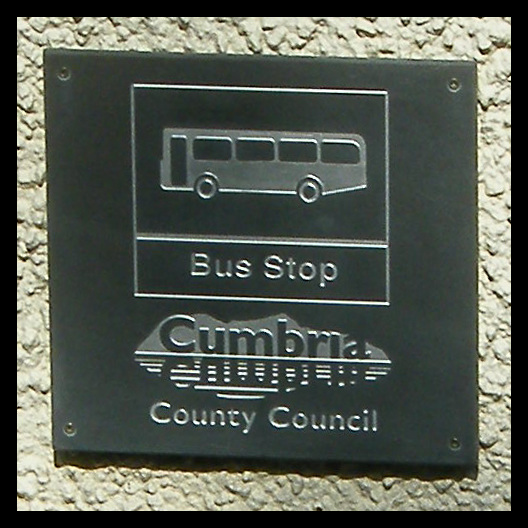 slate bus stop at Ambleside