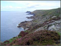 The Zennor coast between Bosigran Head and Gurnard's Head