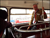 conductor on the upper deck