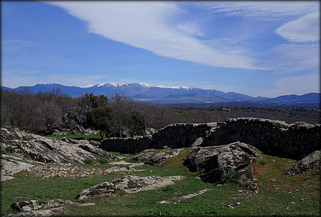 Sierra de Guadarrama from the Roman road near El Escorial