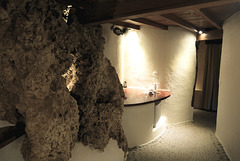 Rock Suite carved out of the coral cliffs - Rockwater Resort Tanna Island Vanuatu