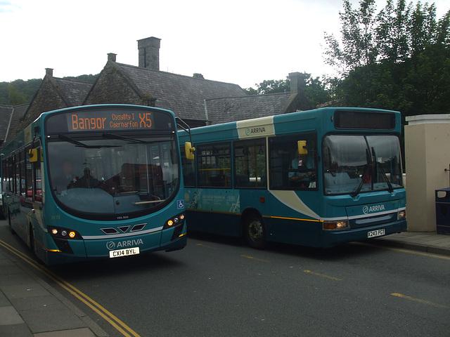 DSCF9940 Arriva Cymru CX14 BYL and X243 PGT