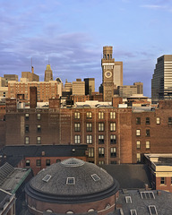 Baltimore Skyline with the Bromo Seltzer Tower, Take 2 – Viewed from the University of Maryland Hospital, Baltimore, Maryland