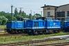 202 547-6 und 212 054-1 der Eisenbahngesellschaft Potsdam
