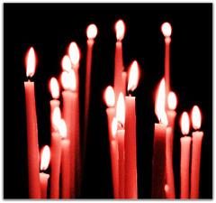 ...die Kerzen sind angezündet...