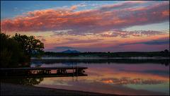 Morgenrot über dem Bannwaldsee