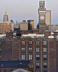 Baltimore Skyline with the Bromo Seltzer Tower, Take 4 – Viewed from the University of Maryland Hospital, Baltimore, Maryland