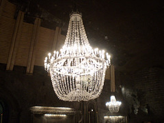 Chandelier made in salt.