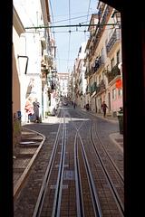 dans le tramway à lisbonne