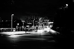 Night walk, esplanade