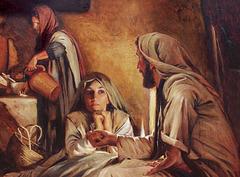 Marta akceptis Jesuon en sian domon…  Maria elektis la plej bonan parton
