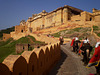 Ascent to the Amber Fort and Palace.