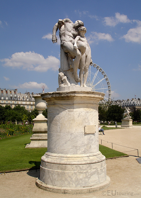 Marble statue in the Tuileries