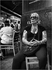 Femme tatouée.