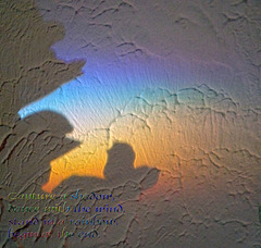 A Quote ~ Rainbow from a crystal making shadows on the wall ~ 'DANCE' for the Poetography Group