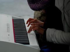Die Hände der Musikantin