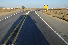 CA sr58 construction zone 4 lane project boron 09'18 02