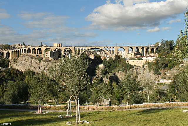 Le pont de Sidi Rached a Constantine.