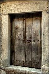Old Door, La Alberca, Salamanca province. PLEASE STAY, DON'T RUN AWAY!!!