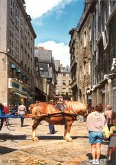 """Quimper, """"Da steht ein Pferd ..."""""""
