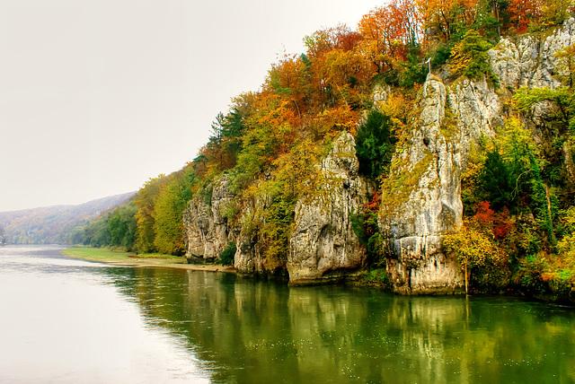 Die Felsformation mit der 'Versteinerten Jungfrau'. ©UdoSm