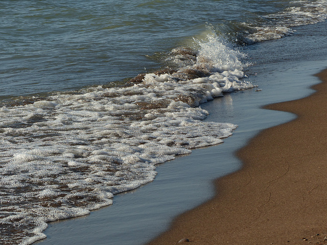 Watching the waves at The Tip, Pt Pelee, Ontario, Canada