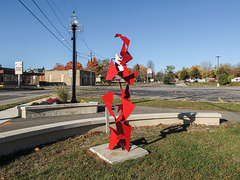 The public art is lifting up its surroundings, making them beautiful.
