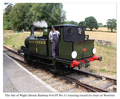 The Isle of Wight Steam Railway 0-6-0T No 11 at Wootton - 19.7.2018