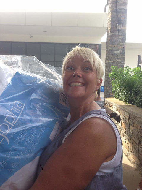 Mandi is happy with her new duvet