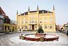 Bützow, Rathaus und Gänsebrunnen