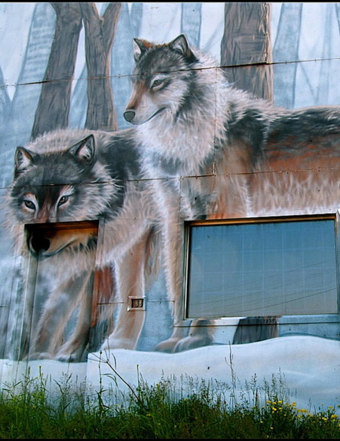 Mural in Orion, Ontario.