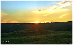 Puesta de sol en Valderejo