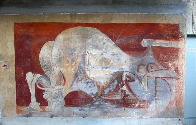 peiture murale extérieure, Villa Noailles, Hyères