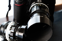 Two Vintage Nikkor Lenses