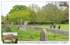 Filming near Alfriston Clergy House - 12.5.2015