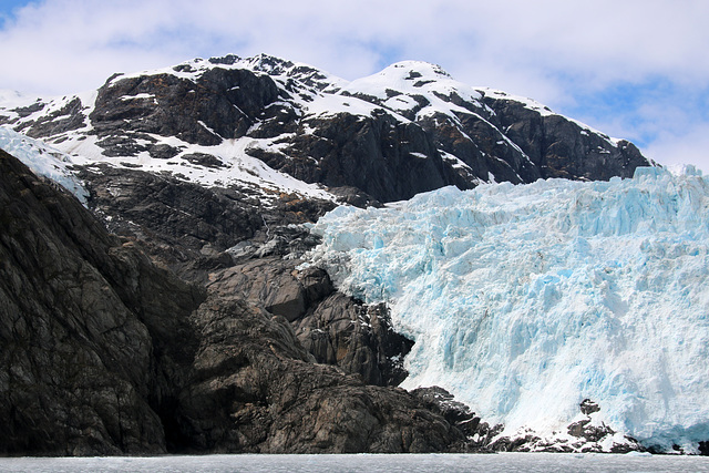 The side of the glacier