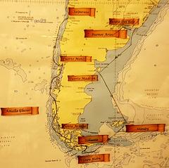 RUTA DEL CRUCERO-BUENOS AIRES(ARGENTINA) A VALPARAISO( CHILE) POR CABO DE HORNO