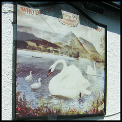 Swan hotel sign at Grasmere