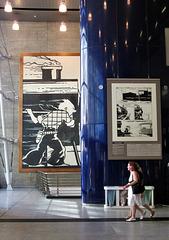 Tintin in America, Gare du Midi, Eurostar terminal.