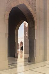 Open doors  ... inside the Grand Mosque.