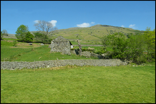 stone wall and byre