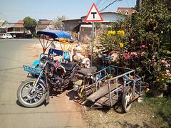 Dropout triple A motorbike (Laos)
