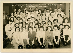 Curtiss Candy Company Mixed Bowling League, Chicago, Illinois, 1949