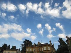 Altocumulus with fall streaks over Dorian House, Bath