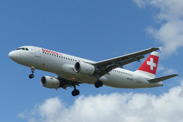 HB-IJQ approaching Heathrow - 6 June 2015